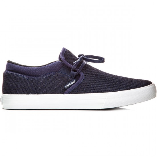 Supra Cuba Shoes - Navy Heather/Navy White - 10.0