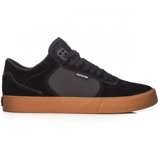 Supra Ellington Vulc Shoes - Black/Gum - 7.0