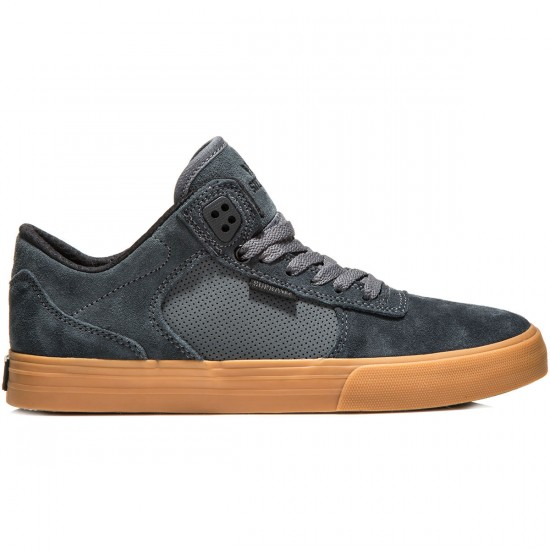 Supra Ellington Vulc Shoes - Charcoal/Gum - 10.0