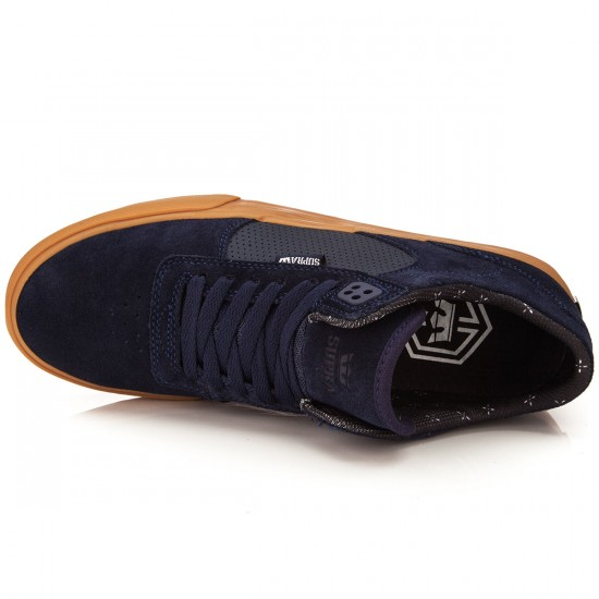 Supra Ellington Vulc Shoes - Navy/Gum - 10.0