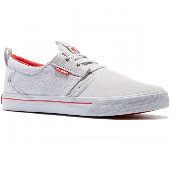 Supra Flow QS Shoes - Grey/Red - 8.5