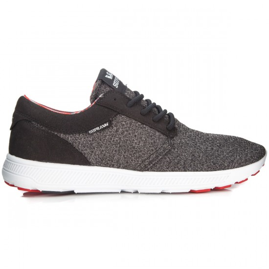 Supra Hammer Run Shoes - Charcoal/Heather/Red/Black - 8.0