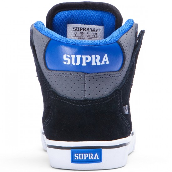 Supra Kids Vaider Shoes - Charcoal/Black/White - 1.0