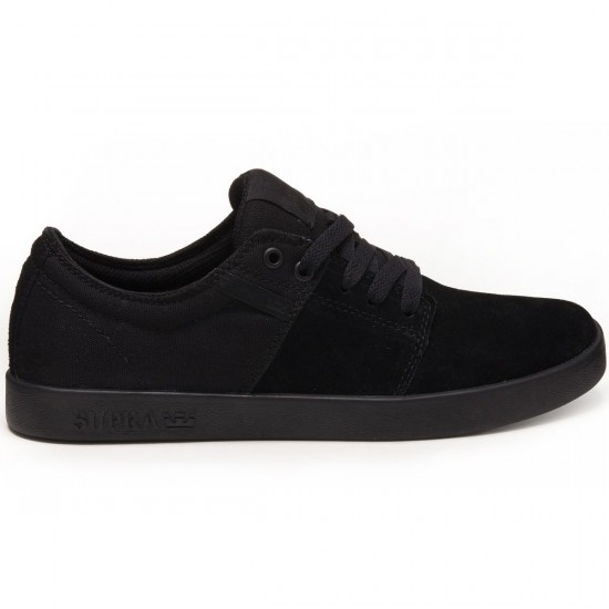 Supra Stacks Vulc II Shoes - Black/Black - 8.0