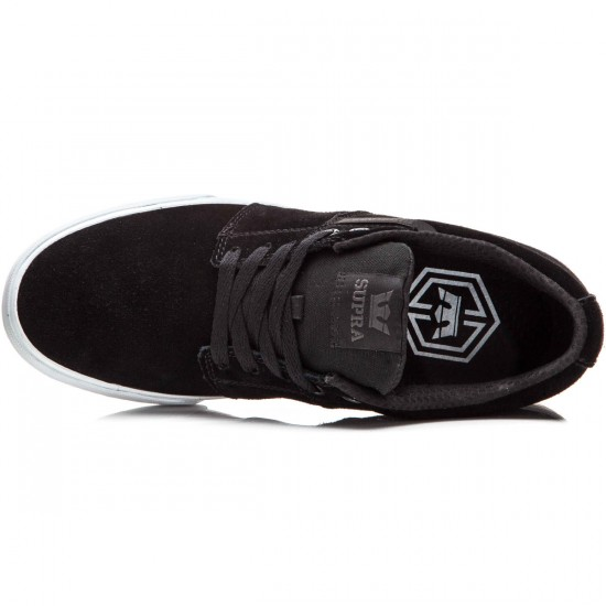 Supra Stacks Vulc II Shoes - Black/White - 10.0