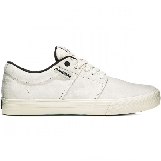 Supra Stacks Vulc II Shoes - Off White/Black/Off White - 10.0