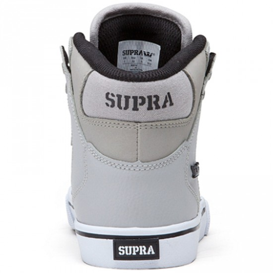 Supra Vaider Kids Shoes - Grey/Black/White - 11C