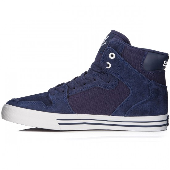 Supra Vaider Shoes - Blue Nights/White - 6.0