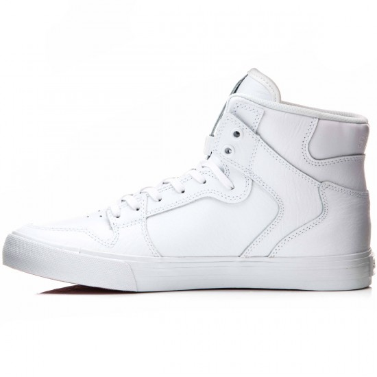 Supra Vaider Shoes - White/Red/White - 10.0