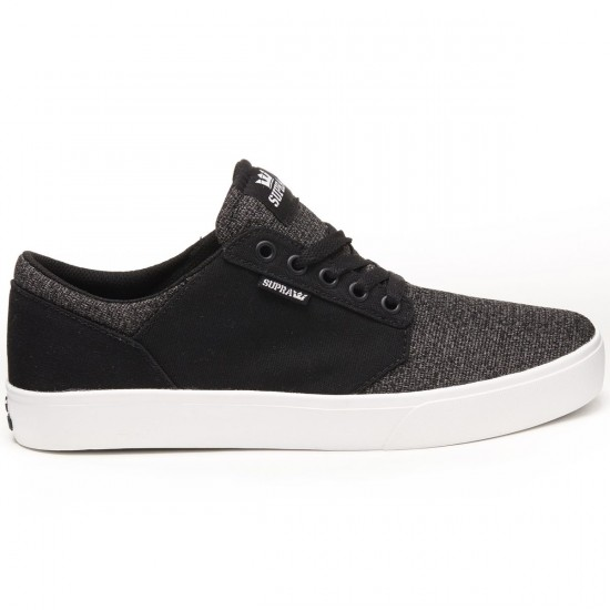 Supra Yorek Shoes - Black/Heather - 8.0