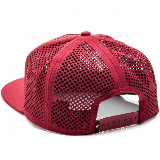 The Hundreds Pine Snapback Hat - Burgundy