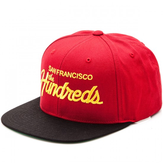 The Hundreds Team Snapback Hat - Red