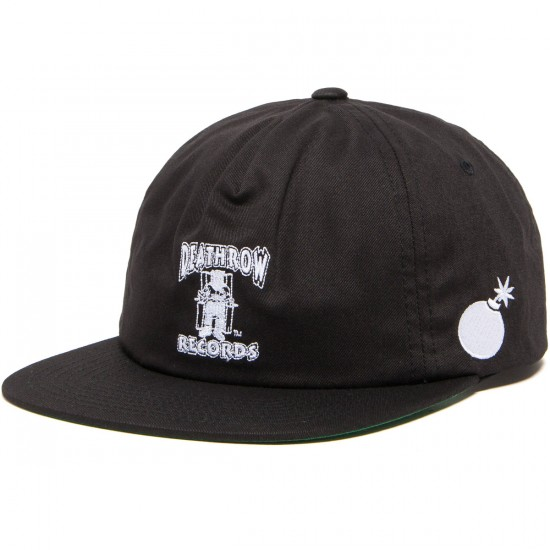 The Hundreds X Death Row Death Snapback Hat - Black