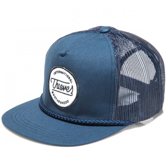 Thieves Brotherhood Patch Mesh Poplin Snapback Hat - Navy