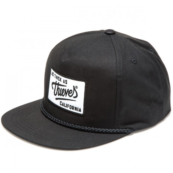 Thieves CA Patch Poplin Snapback Hat - Black