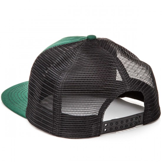 Thrasher Logo Embroidered Mesh Hat - Green/Black