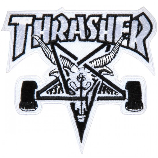 Thrasher Skate Goat Patch - White