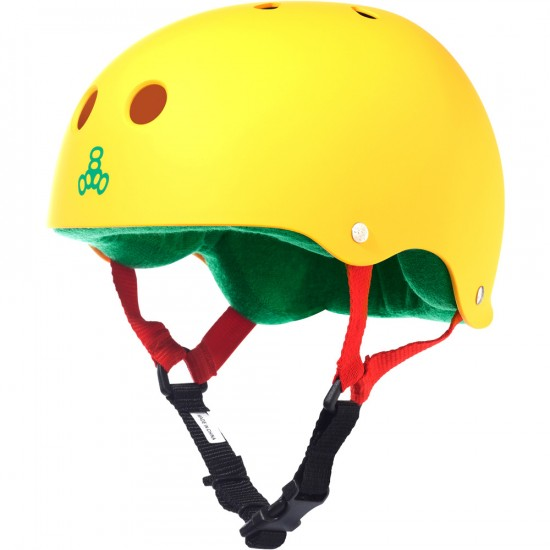 Triple Eight Brainsaver Skateboard Helmet - Rasta Yellow