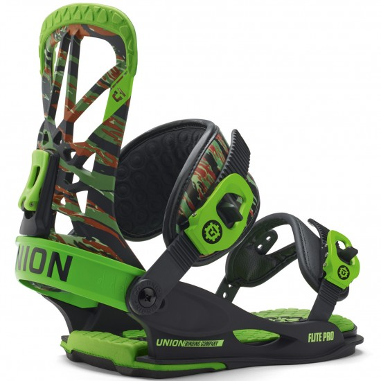 Union Flite Pro Snowboard Bindings 2015 - Camo