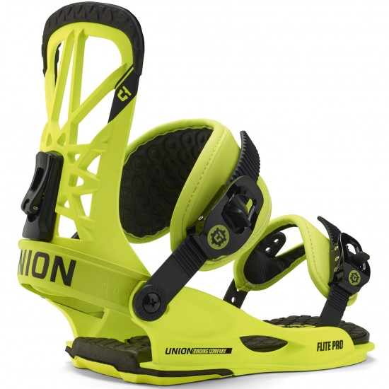 Union Flite Pro Snowboard Bindings 2015 - Neon Yellow