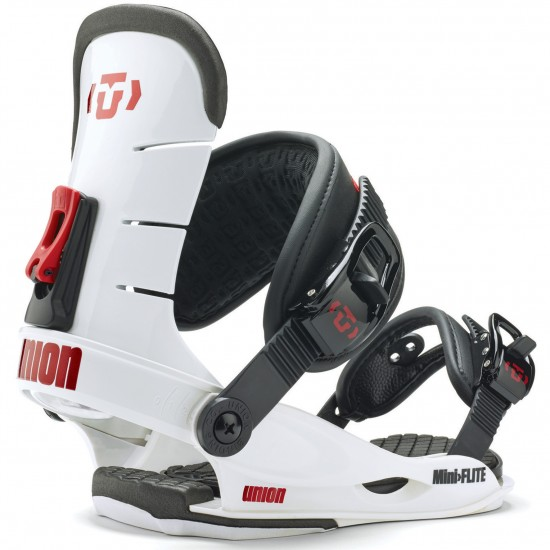 Union Mini Flite Snowboard Bindings 2015 - White