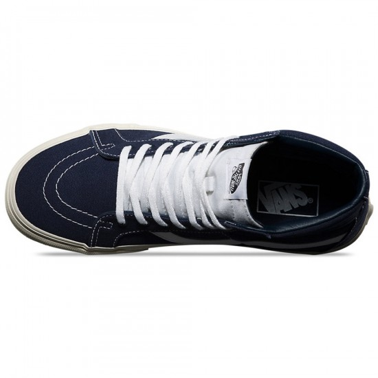 Vans 10 OZ Sk8-Hi Reissue Shoes - Dress Blues/Marshmallow - 8.0