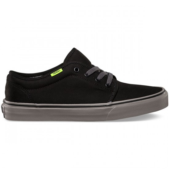 Vans 106 Vulcanized Youth Shoes - Black/Charcoal - 4.0