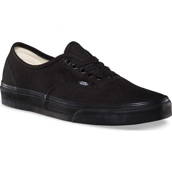 Vans Original Authentic Shoes - Black/Black - 7.0