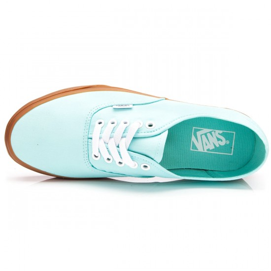 Vans Authentic Brushed Twill Shoes - Blue Tint/Gum - 4.5