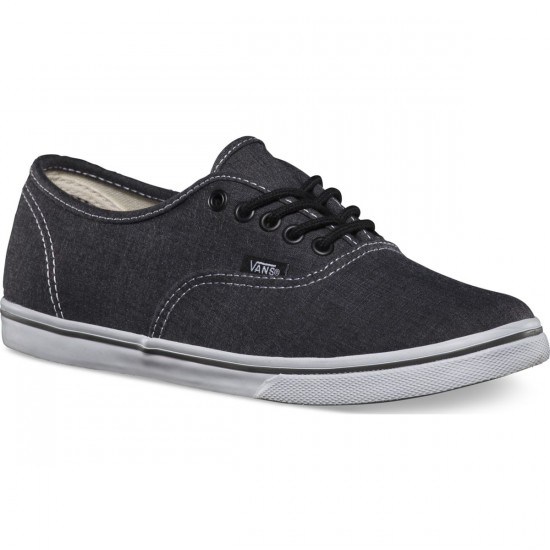 Vans Authentic Lo Pro Chambray Shoes - Charcoal/True White - 3.5