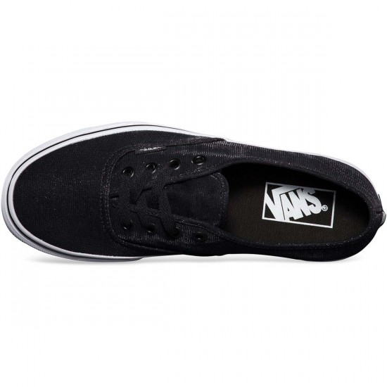 Vans Shimmer Authentic Womens Shoes - Black - 7.5