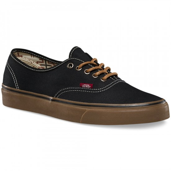 Vans Original Authentic Shoes - Black/Gum - 6.0