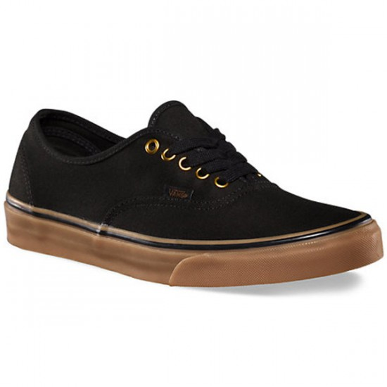 Vans Original Authentic Shoes - Black/Rubber - 6.5
