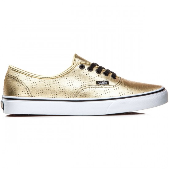 Vans Original Authentic Shoes - Gold/Checker - 8.0