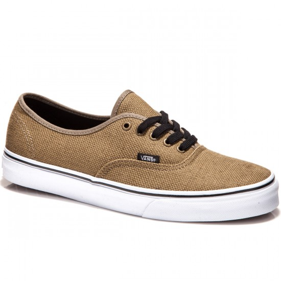 Vans Original Authentic Shoes - Jute Walnut/Black - 7.0