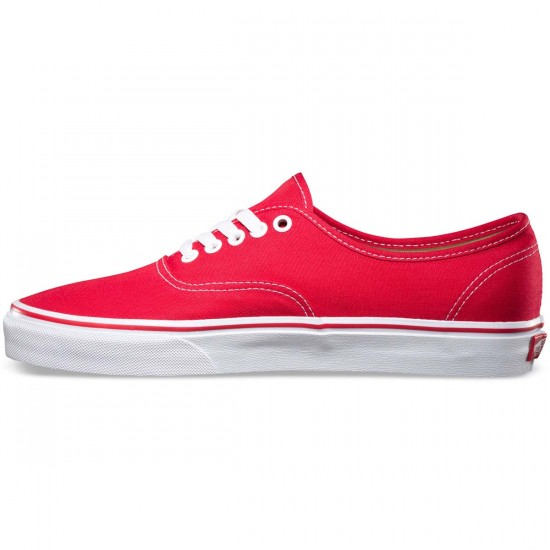 Vans Original Authentic Shoes - Red - 13.0