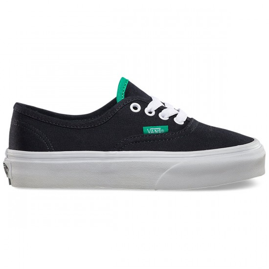 Vans Original Youth Authentic Shoes - Ebony/Emerald - 2.0