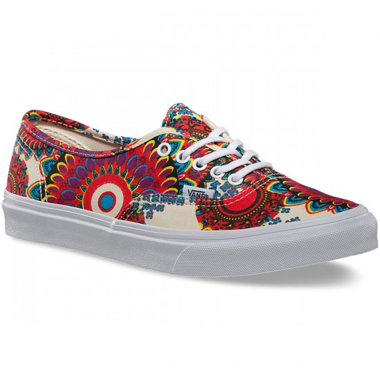 Vans Authentic Slim Geo Floral Shoes - Magenta/True White - 9.0