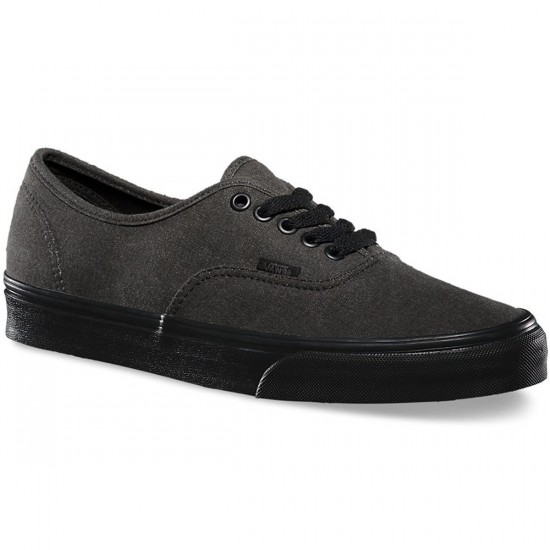 Vans Authentic Washed Shoes - Black/Black - 9.5
