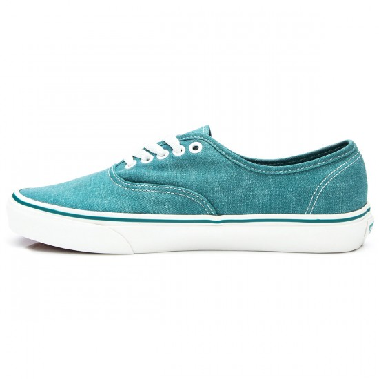 Vans Authentic Washed Youth Shoes - Teal - 3.5