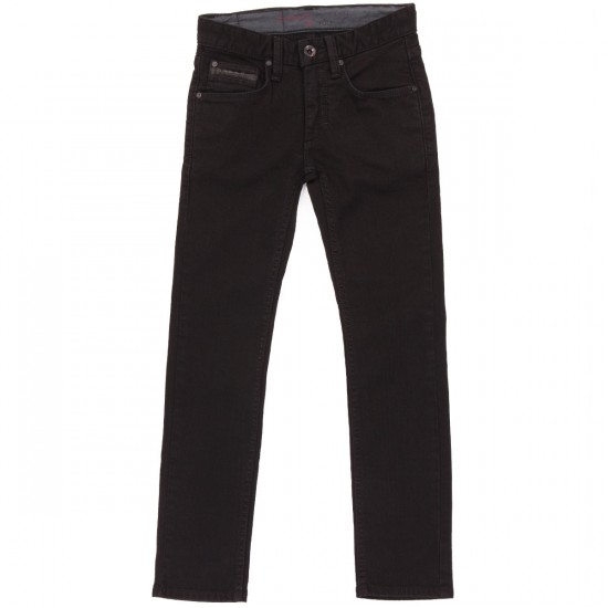 Vans Youth V76 Skinny Jeans - Black Overdye