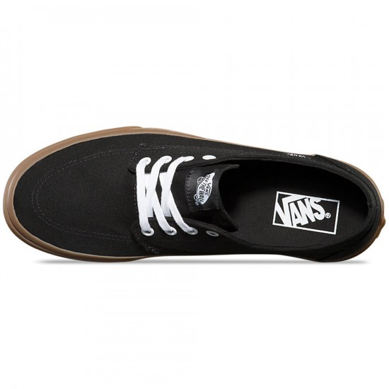 Vans Brigata Shoes - Black/Gumsole - 6.0