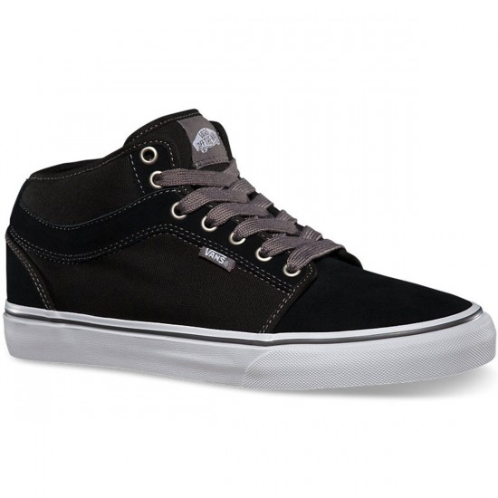 Vans Chukka Mid Shoes - Black/White/Pewter - Black/Pewter/White - 9.5