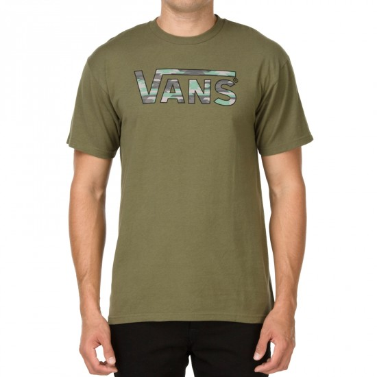 Vans Classic Fill T-Shirt - Military Green/Native Camo