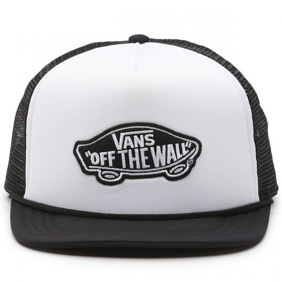 Vans Classic Patch Trucker Hat - White/Black