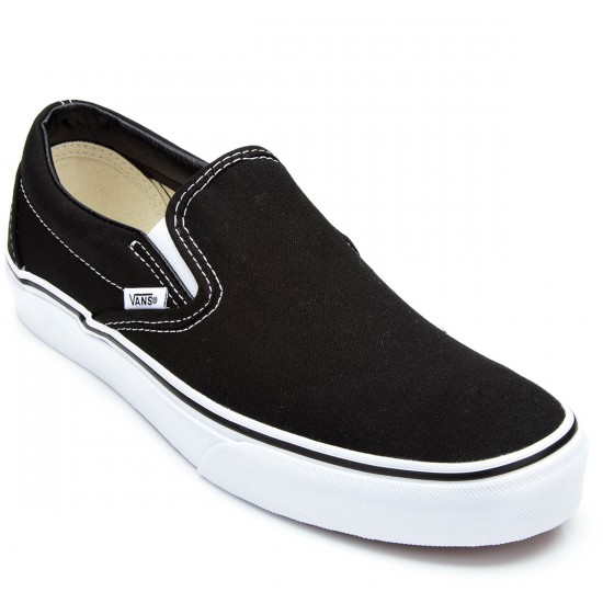 Vans Classic Slip On Youth Shoes - Black - 3.5