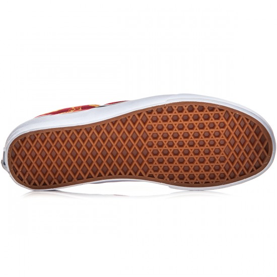 Vans Classic Slip-On Shoes - Late Night Mars Red/Pizza - 8.0