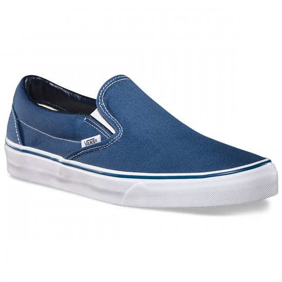 Vans Classic Slip-On Shoes - Navy - 6.5