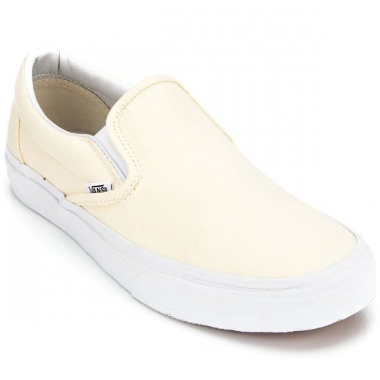 Vans Classic Slip On Youth Shoes - White - 3.5
