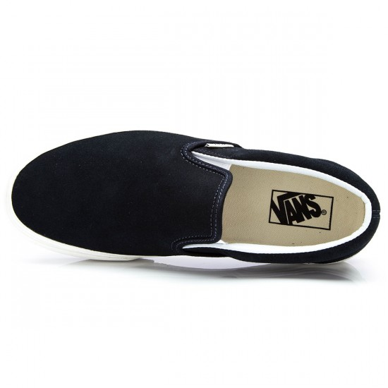 Vans Classic Slip-On Vintage Shoes - Blue Graphite/Blanc - 6.0